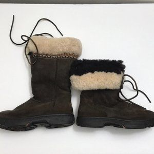 UGG Tall Winter Boots Embroidered Fur Lined